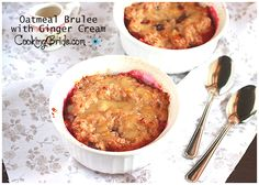 Oatmeal Brulee with Ginger Cream - The Cooking Bride