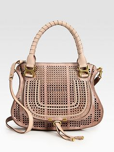 Would never spend that much even if I had it, but it is fantastic! Chloé - Marcie Perforated Snake Embossed Leather Shoulder Bag - Saks.com