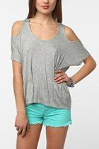 Daydreamer LA Strappy Cold Shoulder Tee  #UrbanOutfitters