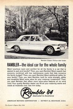 https://flic.kr/p/W5Lxoi   1964 Rambler Classic 770 Sedan AMI AMC Aussie Original Magazine Advertisement