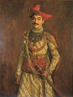 Maharaja Tukojirao II of Dewas Jaisalmer, Udaipur, Monsoon Wedding, Royal Indian, History Of India, Vintage India, Leagues Under The Sea, Costume, Historical Clothing