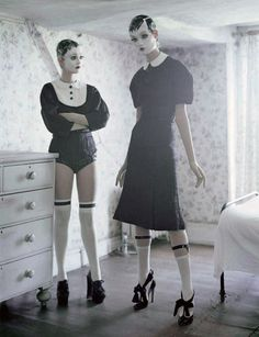 Audrey Marnay & Kirsi Pyrhonen in 'Mechanical Dolls' by Tim Walker for Vogue Italia October 2011