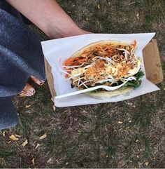 This satay wrap The Girl has Sparke enjoyed came from the Mandalay bus in Braddon, Canberra.