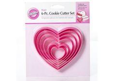 #CakeDecorating #Shop #Wilton #Heart 6 Piece #Cookie #Cutter #Set http://www.mycakedecoratingshop.co.uk/cookie-shop/cookie-cutters/wilton-heart-6-piece-cookie-cutter-set