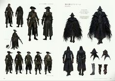 In the terrifying video game Bloodborne, deranged mobs and nightmarish creatures lurk around every corner of a horror-filled gothic city. Bloodborne: Official A Bloodborne Concept Art, Bloodborne Art, Bloodborne Outfits, Bloodborne Cosplay, Game Concept Art, Character Concept, Character Art, Dark Fantasy, Fantasy Art