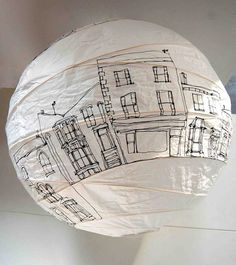 Paper Pendant Lamp Shade Diy Wax Paper Lampshade Diy Find This Pin And More On Paper Lanterns Diy Rice Paper Lamp Shades New Zealand Paper Lampshade, Lampshades, Deco Luminaire, Arts And Crafts, Diy Crafts, Idee Diy, Paper Lanterns, Blacksmithing, Creative Design
