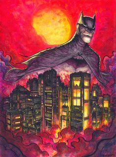 Batman illustration by Dylan Burnett