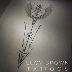 """19 Likes, 2 Comments - Lucy Brown (@lucybrowntattoos) on Instagram: """"Viking Valkyrie arrow with rune symbols... Design commission Copyright of #lucybrowntattoos"""""""