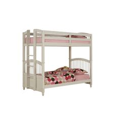 Powell May Twin/Twin Bunk Bed (ships in 2 cartons) - Click pics for price Childrens Bunk Beds, Girls Bunk Beds, Adult Bunk Beds, Twin Bunk Beds, Girls Bedroom, Full Size Bunk Beds, Bunk Bed With Trundle, Two Twin Beds, Twin Twin