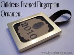 For a Christmas you'll always remember, and an ornament completely unique to you or your child, mark it with your finger print, and write the year.