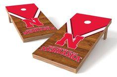 Nebraska Cornhuskers Cornhole Board Set - Uniform (w/Bluetooth Speakers)