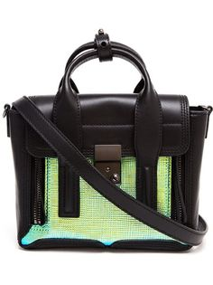 3.1 PHILLIP LIM Pashli Leather And Holographic Stamped Satchel