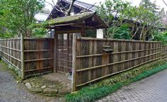 Wooden house and wall, japanese style it's very natural.