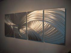 Metal Wall Art, Modern Home Decor, Abstract Wall Sculpture Contemporary- Tempest