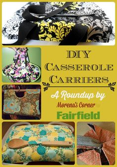 A collection of casserole carrier projects you can make for yourself or as gifts.