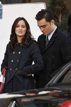 Leighton Meester Photos - Blake Lively, Ed Westwick and Leighton Meester on Set - Zimbio