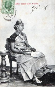 CPA Inde Ceylon Jaffna Tamil Lady Ceylon Superbe Ethnique