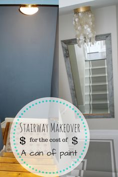 Painted stair makeover!! Via Heathered Nest