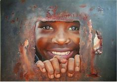 El arte que te fascina: rostros de niños al óleo.