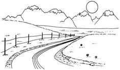 ~~~ How to Sketch a Landscape ~~~ Snow-capped mountains rise above the clouds into the winter sky. tlc.howstuffworks.com