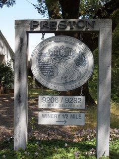 Preston Winery-Healdsburg, CA. Owned by super nice folks, they also run a full farm and orchard with veggies, fruits, and animals!
