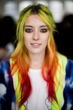 Chloe Norgaard is famous for her extra colorful locks // 23 Understated Ways to Wear Neon Makeup
