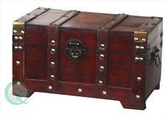 Estilo de madera antigua de pequeño baúl: Amazon.es: Hogar
