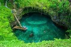 Samoa\u0027s To Sua Ocean Trench is a natural salt water swimming hole that will take your breath away.