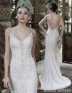 Slinky Sheath Wedding Dress by Maggie Sottero