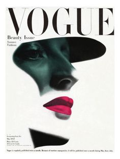 Vogue Cover - May 1945 Poster Print by Erwin Blumenfeld at the Condé Nast Collection. Published once a month throughout may, June, July due to wartime