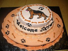 German shepherd birthday cakes