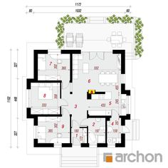 Dom w dereniach House Plans, Floor Plans, Home, Palmas, Ad Home, Homes, House Floor Plans, Haus, Floor Plan Drawing