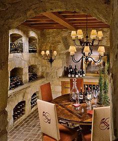 Cozy cottage wine cellar. Thomas Pheasant.
