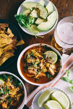 This chicken and chard tortilla soup is the perfect family dinner. Slightly spicy, full of flavor and topped with homemade crunchy tortilla strips. Plus it's ready in just about an hour so you can feast in no time!