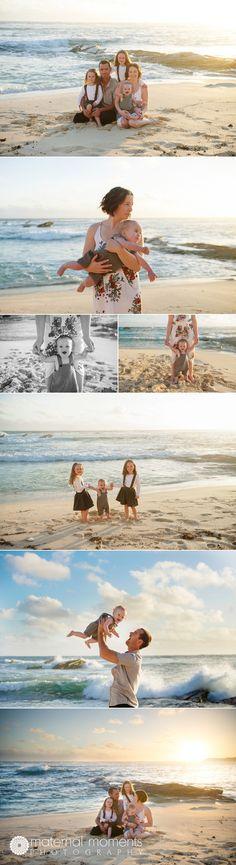 Autumn, family photo session on the coast of Western Australia, Hamelin Bay.  Family of five, family poses.