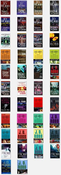 J.D. Robb: In Death Series  Start at the beginning. There are 40+ books.