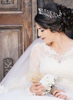 Woman weddig 2016 weddinghair gelin saçı gelinlik gelin tacı