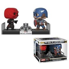 Buy Marvel Captain America and Red Skull Funko Pop! Movie Moment from Pop In A Box UK, the home of Funko Pop Vinyl subscriptions and more. Marvel Captain America, Red Skull Captain America, Capitan America Marvel, Marvel Studios Movies, Films Marvel, Marvel Marvel, Marvel Cinematic, Funko Pop Marvel, Marvel Pop Vinyl