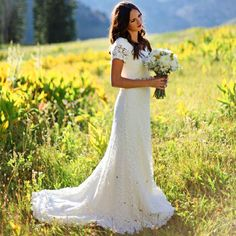 Cheap dress shirt, Buy Quality dress with butterfly sleeves directly from China gown fabric Suppliers: 2016 Classic A Line Bridal Gowns Short Sleeve Lace Wedding Dress Order Modest Hochzeitkleider Western Country Style Wed