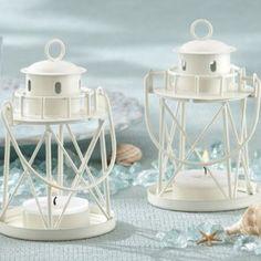 Nautical & Beach Wedding Planning, Theme Ideas, Decor & Supplies >> Lighthouse Tea Light Holder