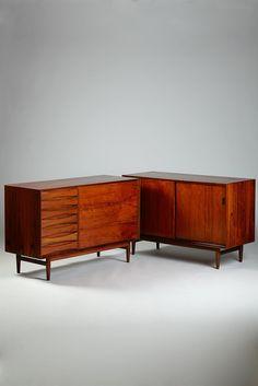 Arne Vodder; Rosewood Cabinets for Sibast, 1960s.