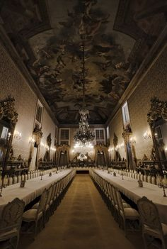 The Dining Room The National Palace of Ajuda - Lisbon, Portugal