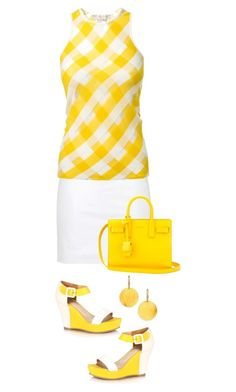 """Yellow and White"" by terry-tlc ❤ liked on Polyvore featuring Gurhan, Topshop, STELLA McCARTNEY and Yves Saint Laurent"