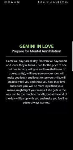 Gemini in love Gemini And Scorpio, Gemini Traits, Gemini Life, Gemini Quotes, Gemini Woman, Zodiac Signs Gemini, Gemini And Cancer, Zodiac Facts, Quotes Quotes