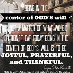 Being in the center of God's Will Made to Crave Action Plan