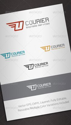 Courier Logo Template  #GraphicRiver         Simple, clean and modern logo template perfect for Courier and Delivery Services.  	 Simple to work with and highly customizable, it ca be easily adjusted to fit your needs.