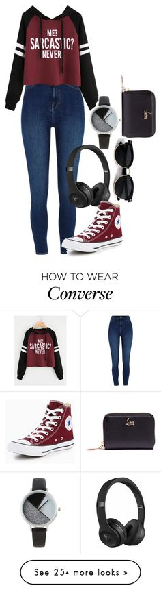 """Untitled #1589"" by twisted-magic on Polyvore featuring River Island, Beats by Dr. Dre, Converse, BKE and Christian Louboutin"