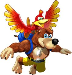 Banjo-Kazooie (Banjo-Kazooie) - 3rd party character from RARE c/o Microsoft. Medium-Heavy class character.