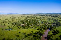 Singita Faru Faru Lodge is set in Grumeti in northern Tanzania, forming part of the Serengeti Mara ecosystem. Creature Comforts, Tanzania, Lodges, Earthy, Serenity, Grass, Skyline, River, Places
