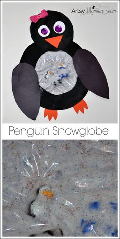 Kids will love making and playing with this fun Penguin Snowglobe Sensory Craft! It's great for preschool-aged children and older. Snow Activities, Winter Activities For Kids, Winter Crafts For Kids, Winter Kids, Diy For Kids, Sensory Activities, Cute Kids Snacks, Classroom Art Projects, Winter Art Projects